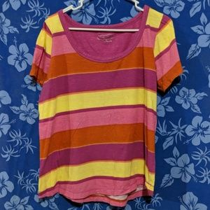 Maurices Plus Stripe Shirt Tee Top Size 1